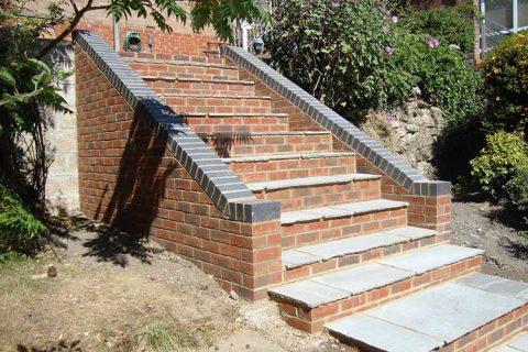 Garden Steps - Fareham Brickwork & Orangeries